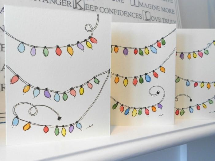 Weihnachtskarten selber basteln diy ideen bastelideen malen