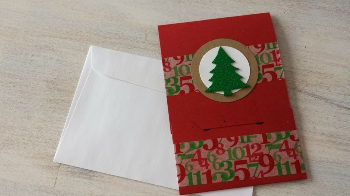 Weihnachtskarten selber basteln diy ideen basteln farbwirkung