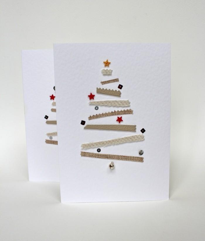 Weihnachtskarten selber basteln und freunde und verwandte for Weihnachtskarten mit kindern basteln