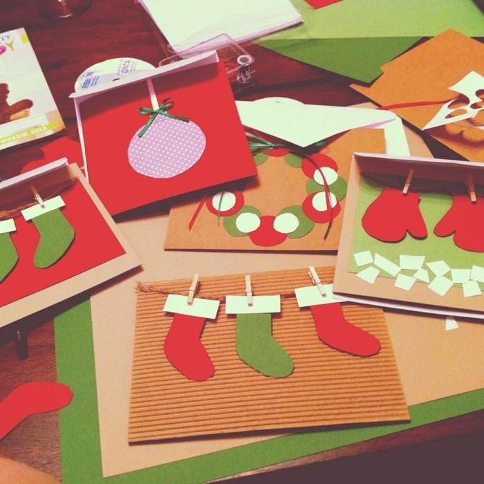 Weihnachtskarten selber basteln diy ideen basteln mit papier