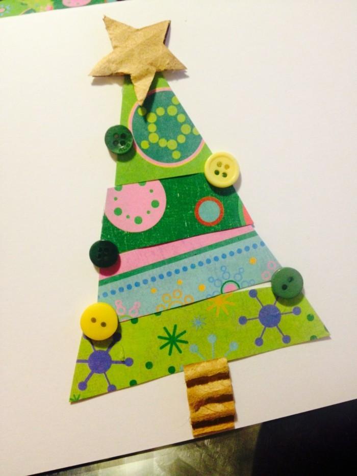 Weihnachtskarten selber basteln diy ideen bastelvorlagen