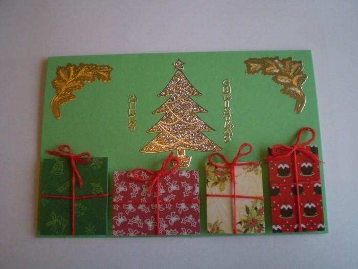 Weihnachtskarten selber basteln diy ideen goldig