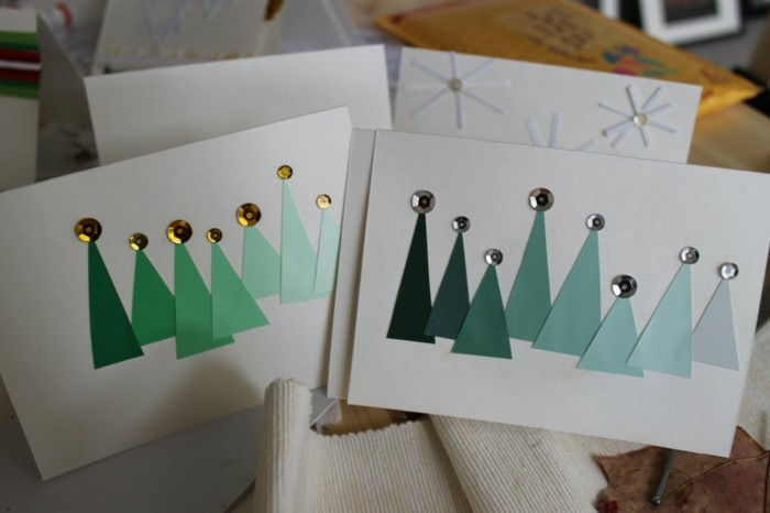 Weihnachtskarten selber basteln diy ideen karten