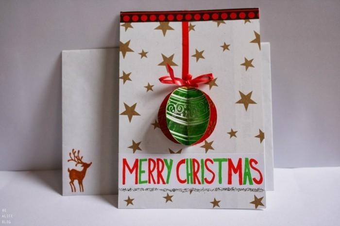 Weihnachtskarten selber basteln diy ideen kleben