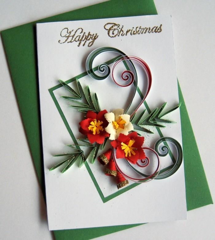 Weihnachtskarten selber basteln diy ideen kunstvoll