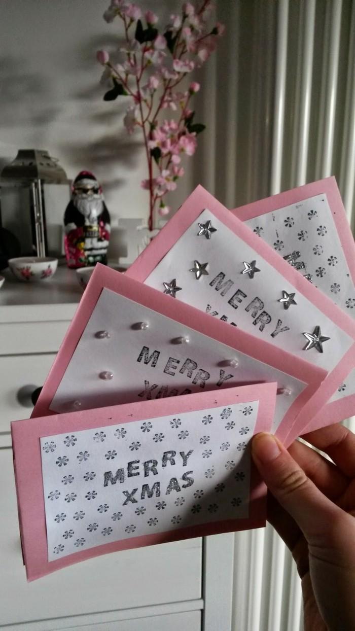 Weihnachtskarten selber basteln diy ideen monochrom
