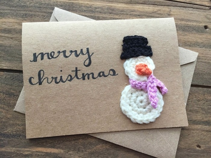 Weihnachtskarten selber basteln diy ideen naturmaterialien