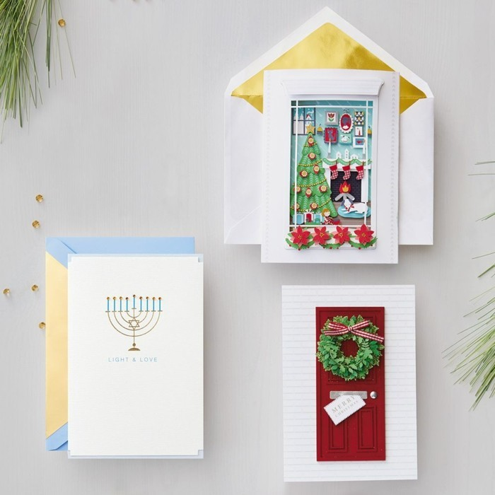 Weihnachtskarten selber basteln diy ideen opener