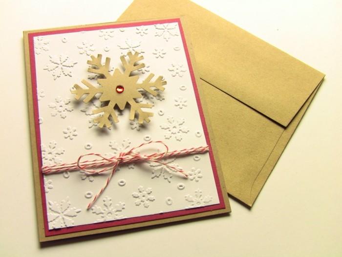 Weihnachtskarten selber basteln diy ideen schneeflocke