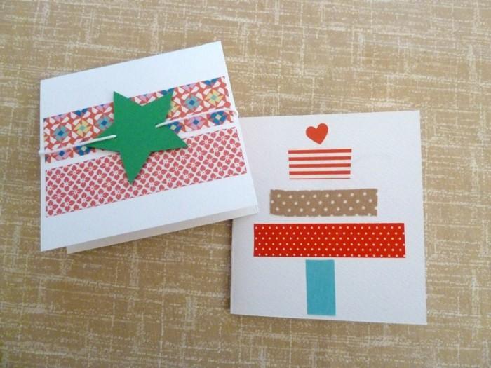 Weihnachtskarten selber basteln diy ideen stern