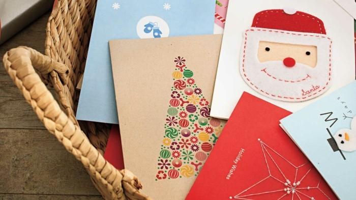 Weihnachtskarten selber basteln diy ideen titel