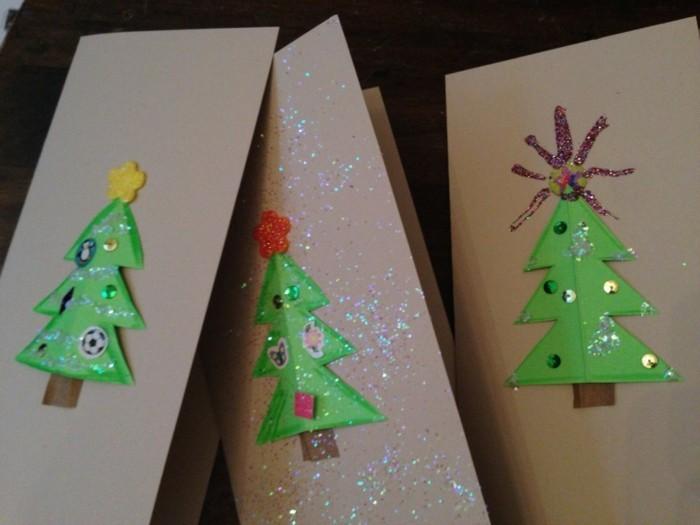 Weihnachtskarten selber basteln diy ideen weihnachtbaeme