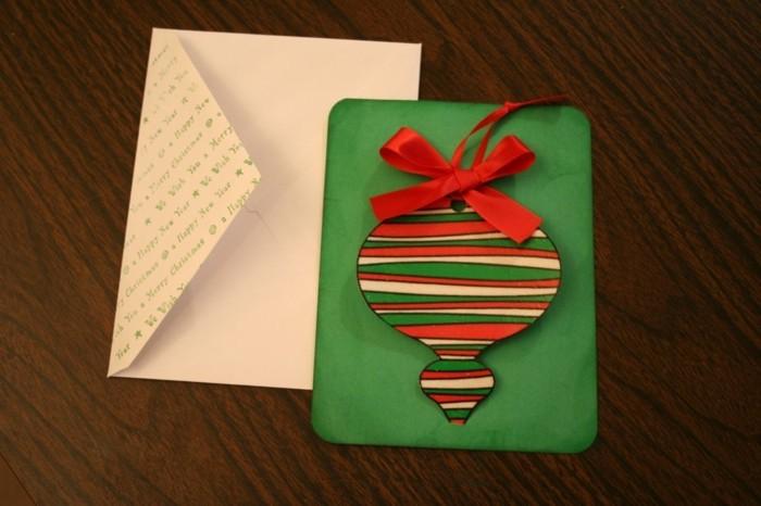 Weihnachtskarten selber basteln diy ideen weihnachtsschmuck