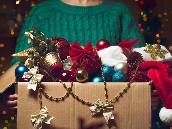 Weihnachtsschmuck glänzt glitzert Weihnachtsschmuck