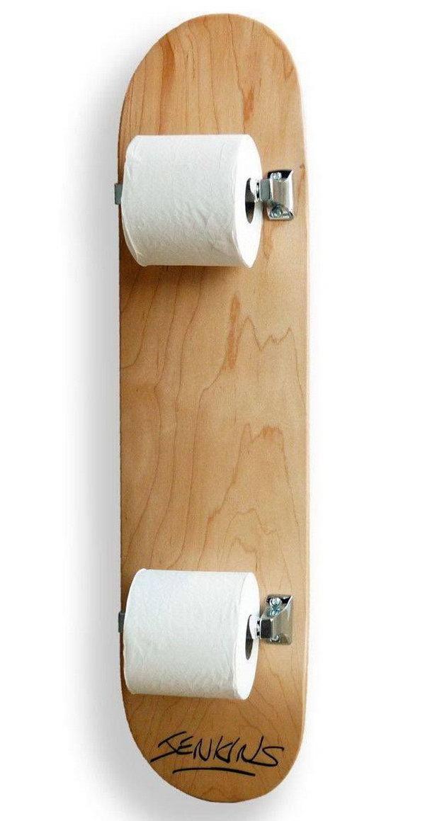 altes skater brett DIY WC Papierhalter