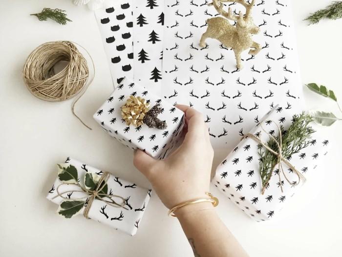 basteln für weihanchten geschenkpapier selber machen stempel selber machen