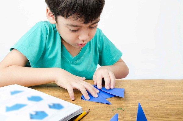 basteln mit kinder origami weihnachten