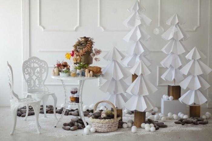 basteln weihnachten diy dekoideen papier