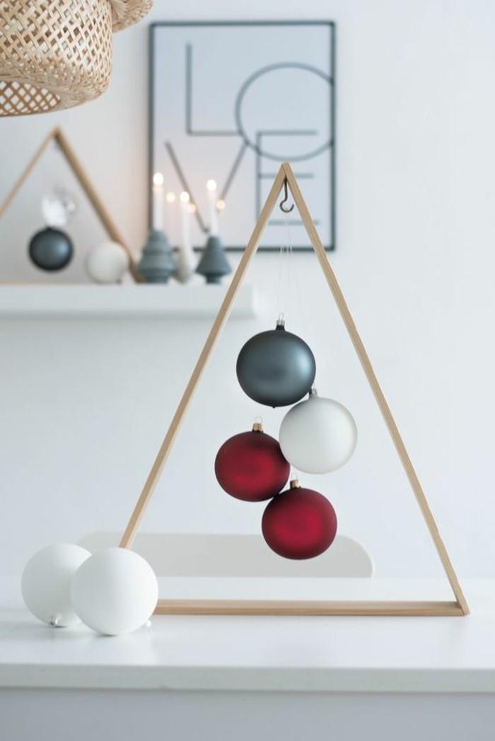 basteln weihnachten geometrische dekoideen