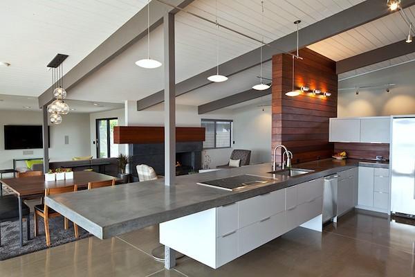 beton arbeitsplatte küche
