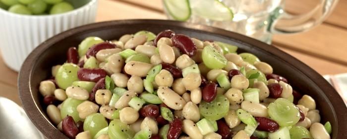 bohnen salat partysalate weintrauben rezepte