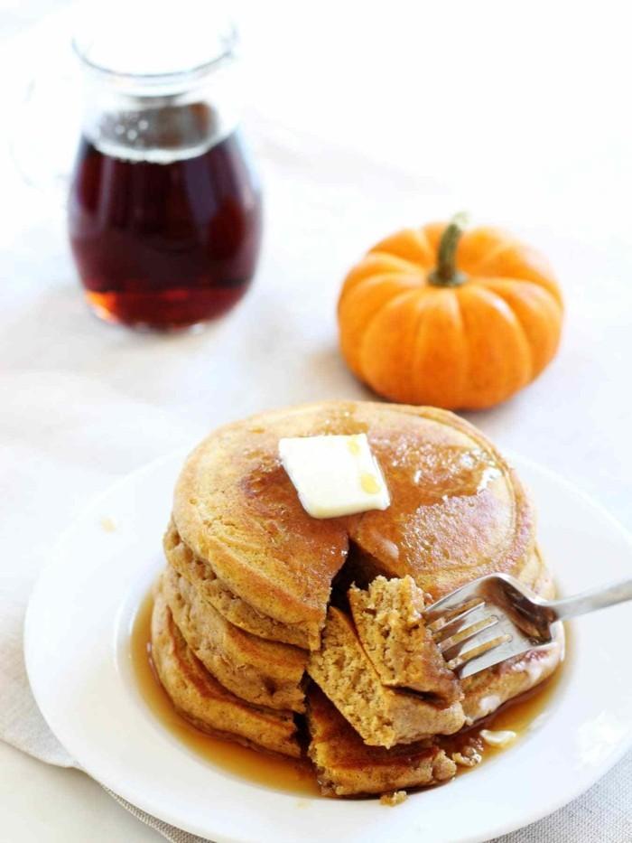 butter protein kuerbispfannkuchen kuerbis ideen herbstrezepte