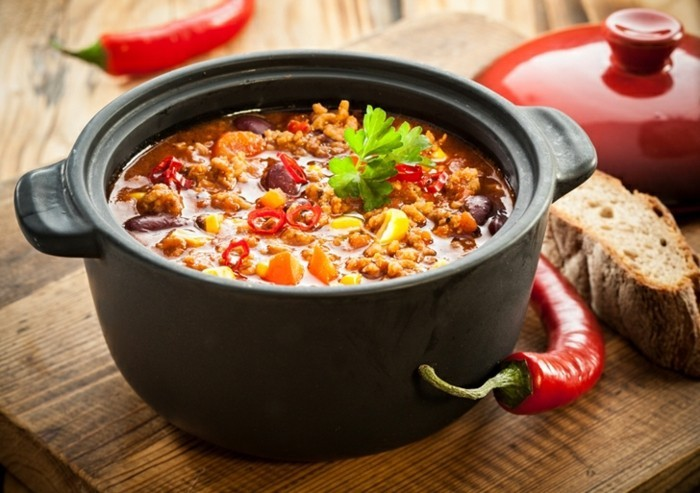 chili sin carne kochen paprika rot mais bohnen koriander