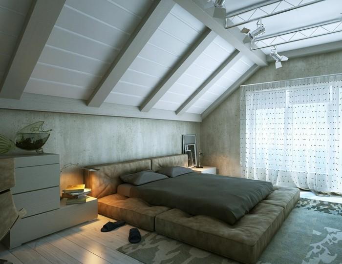 dachschräge einrichten ideen für das schlafzimmer