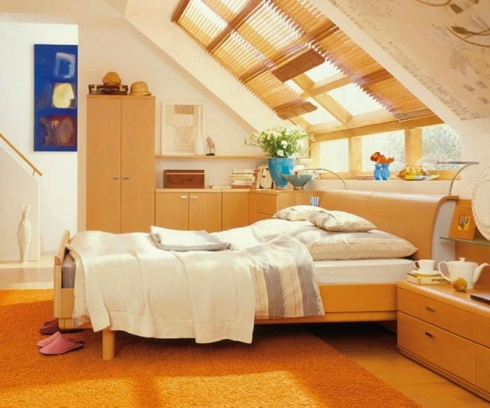 dachschräge einrichten kleines gemütlihces schlafzimmer gestalten