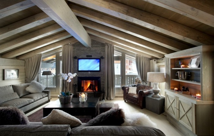 dachschräge einrichten modernes und gemütliches wohnzimmer