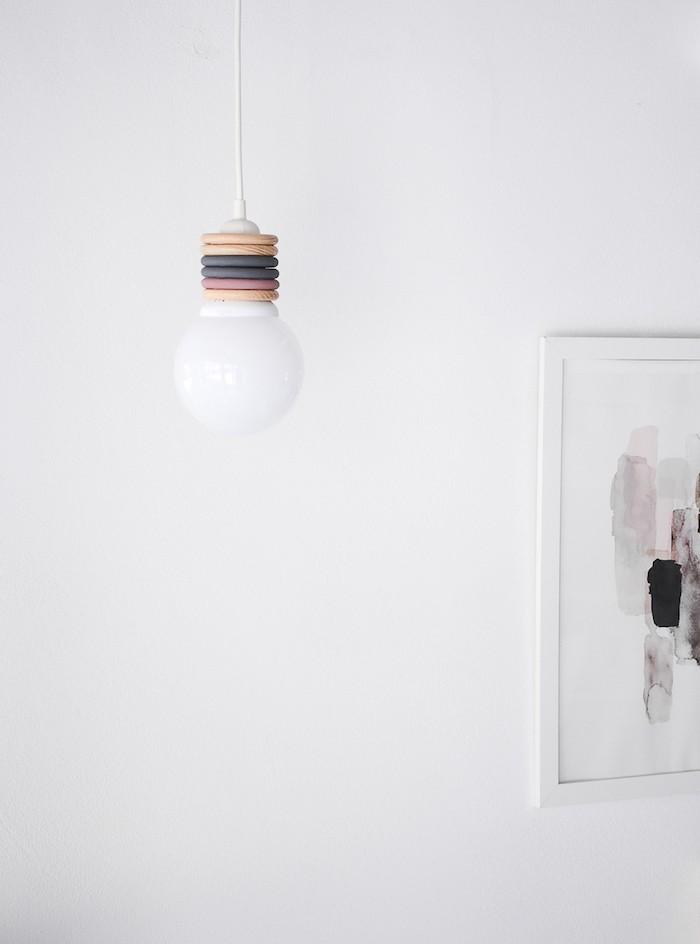 diy lampe hängeleuchte im wohnzimmer