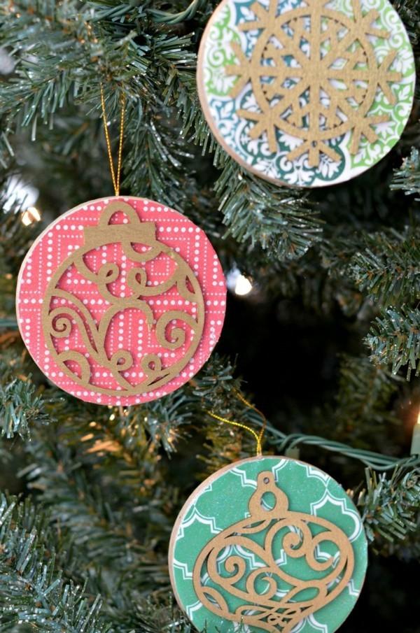 diy weihnachtsdeko rustikale dekoanhänger selber machen