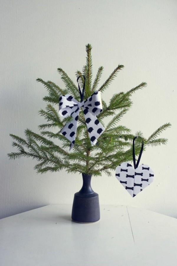 diy weihnachtsdekoration ideen christbaum dekoanhänger papier