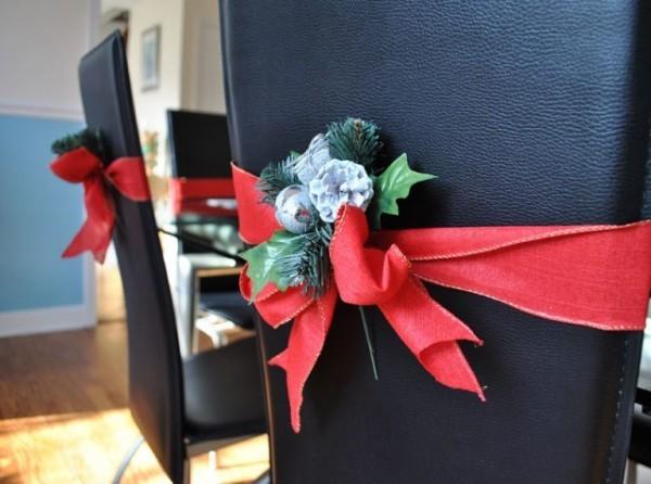 diy weihnachtsdekoration ideen dekoideen stühle esszimmer