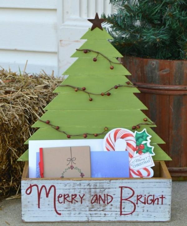 diy weihnachtsdekoration ideen eingang dekoideen