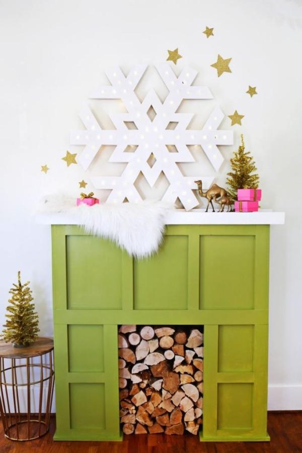 diy weihnachtsdekoration ideen schneeflöckchen sterne
