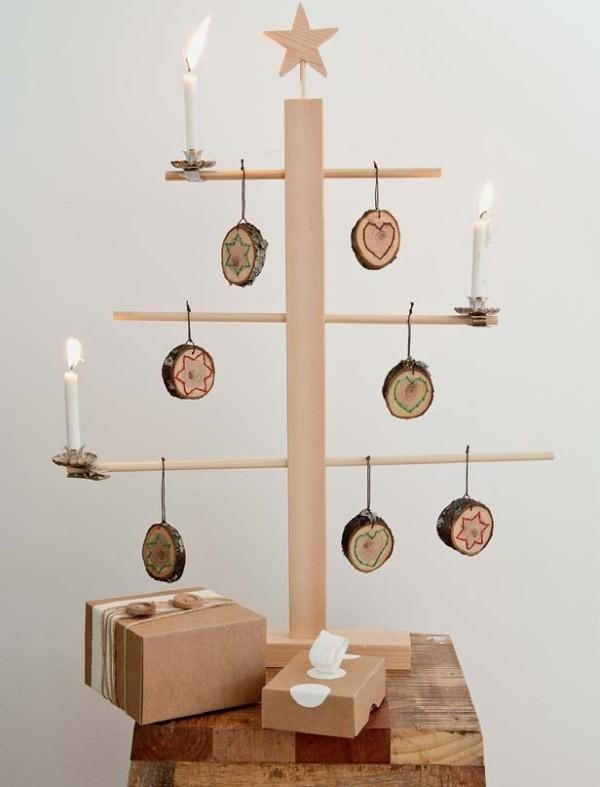 diy weihnachtsdekoration ideen weihnachtsbaum dekoanhänger holz
