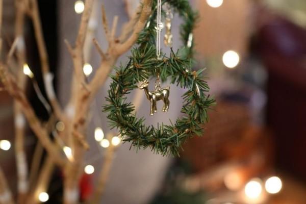 diy weihnachtsdekoration ideen weihnachtskranz dekoanhänger