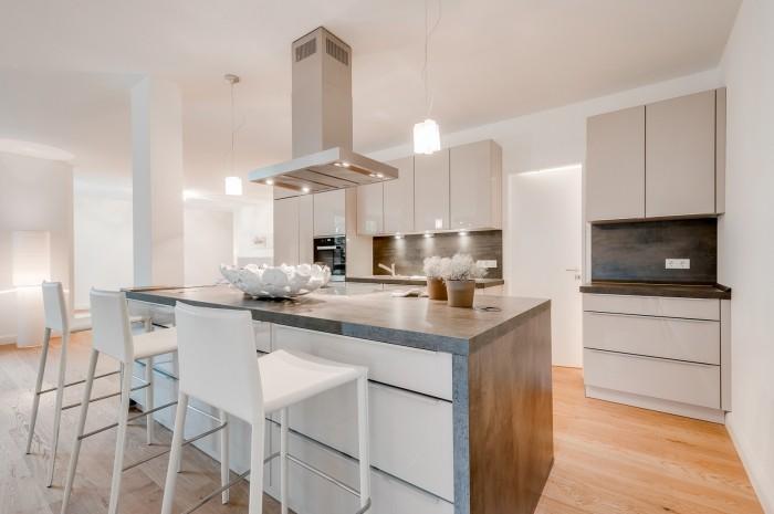 durch kücheninsel offene küche modern gestalten
