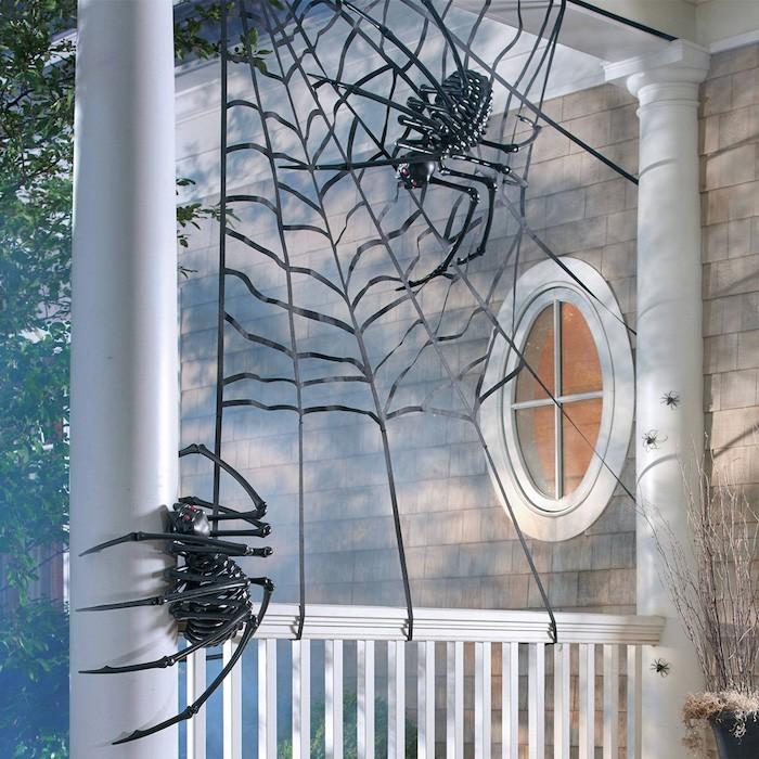 eingang dekoration zu halloween selber machen