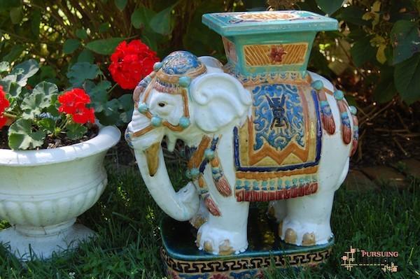 elefant töpfern gartenkeramik