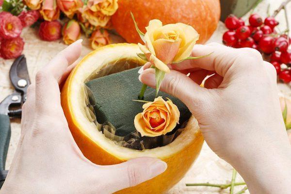 exotische früchte blumengestecke selber machen