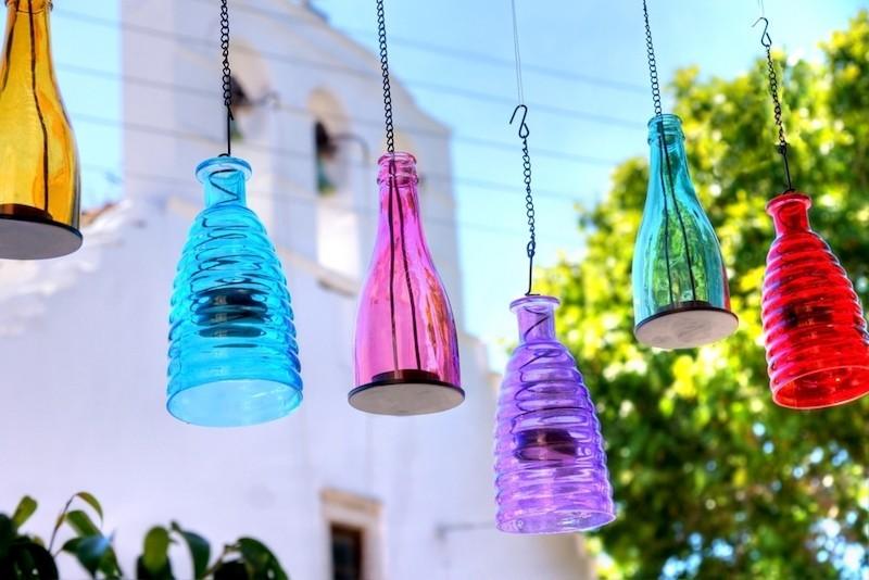 flaschenlampen selber machen aus glasflaschen