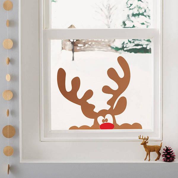 fensterdeko weihnachten ideen mit hirschhörnern