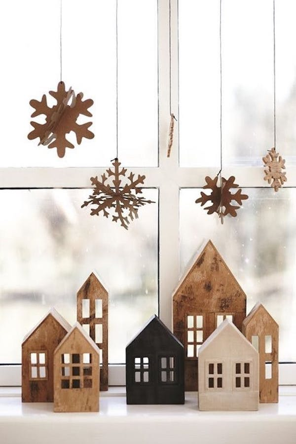 fensterdekoration weihnachten ideen aus holz