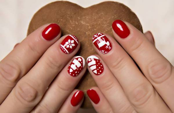 feurige rote Nageldesigns