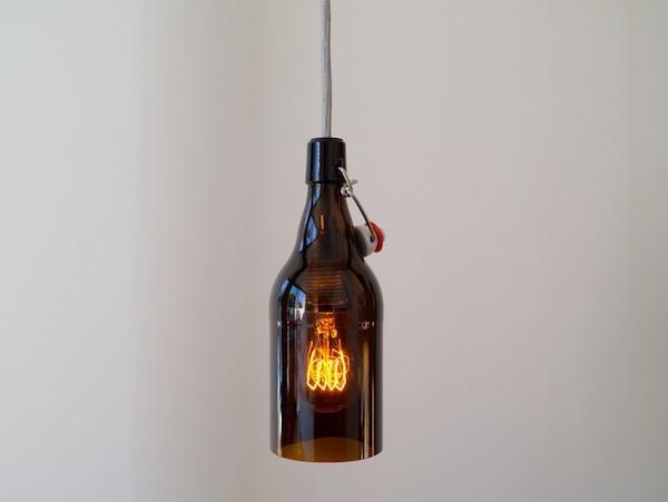 flaschenlampe selber machen aus bierflaschen