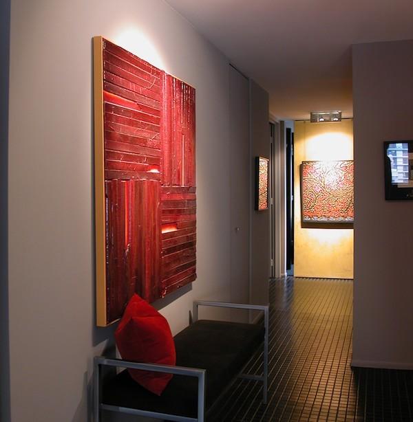 flurgestaltung modern rote accessoires frisches flair