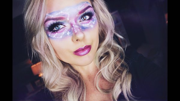 galaxy make up schminkideen augen