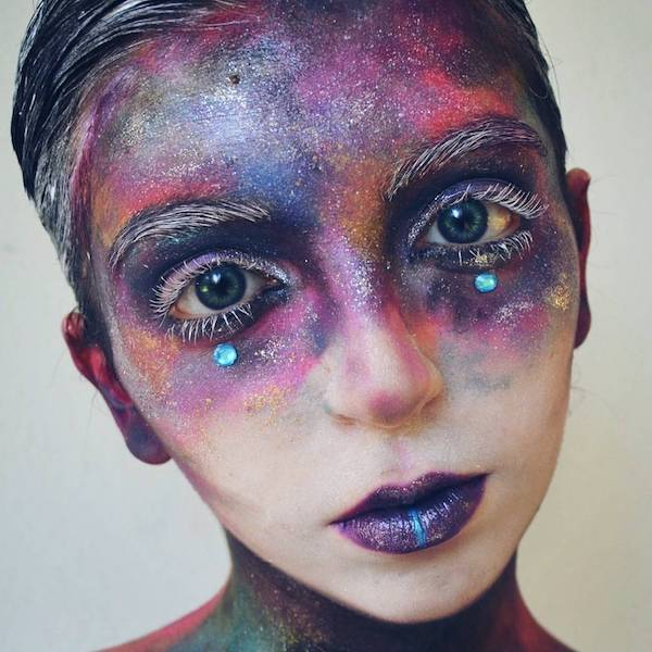 galaxy make up trend augen schminken